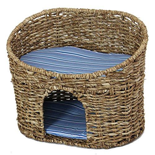 lll katzenh hle mit kissen korb geeignet f r kleine katzen power pfoten. Black Bedroom Furniture Sets. Home Design Ideas