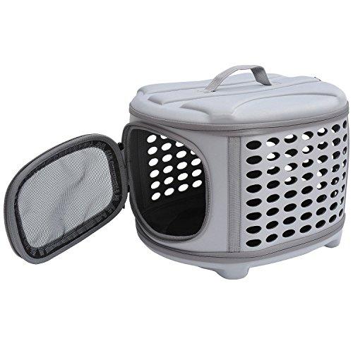 PawHut D1-0166 Transporttasche für Tiere, lichtgrau